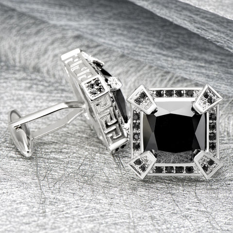 Executive Black Crystal Cufflinks