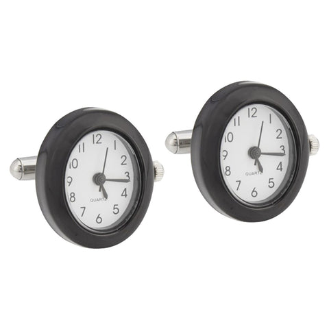 Black Oval Watch Cufflinks