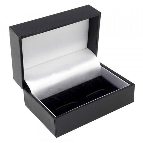 Black Leather Single Cufflink Box