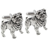 British Bulldog Pewter Cufflinks