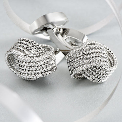 Executive Silver Knot Cufflinks