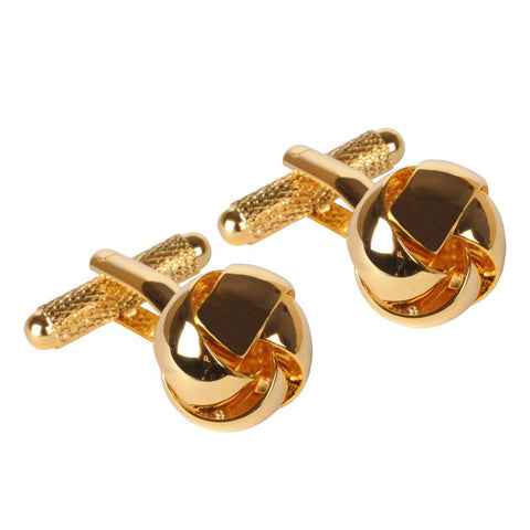 Gold Large Thread Knot Cufflinks