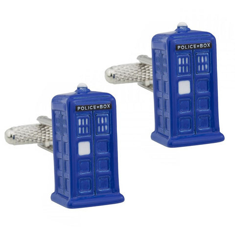 Dr Who Tardis Cufflinks