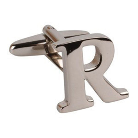 Letter R Initial Cufflink (Sold Individually)