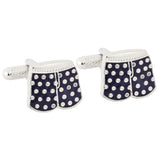 Navy Boxer Short Cufflinks