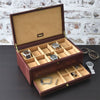 Dulwich Heritage Brown 10 Piece Watch Box
