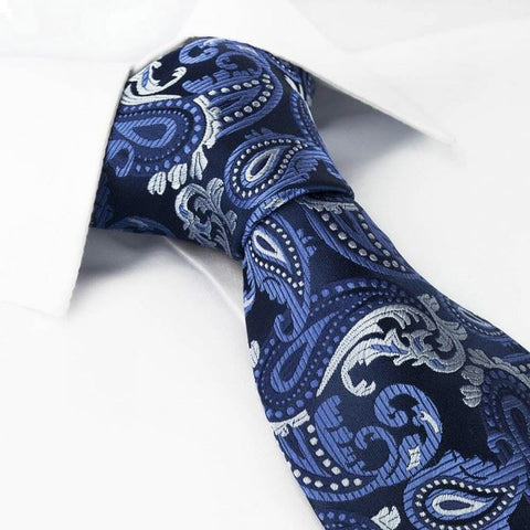 Blue Paisley Luxury Silk Tie