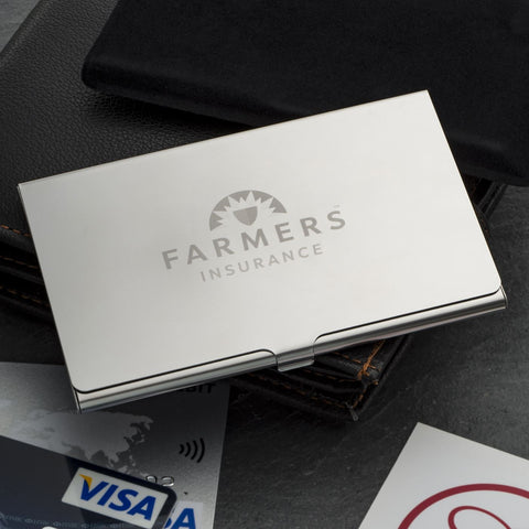 Logo Engraved Business Card Holder