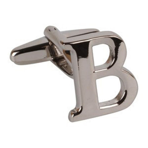 Letter B Initial Cufflink (Sold Individually)
