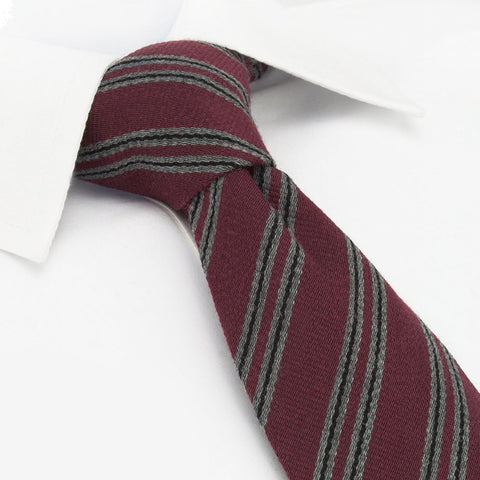 Wine Club Stripe Wool Mix Tie