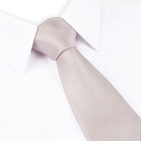 Pastel Rose Textured Woven Silk Tie