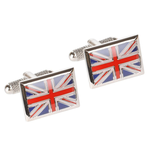 Union Jack Square Cufflinks