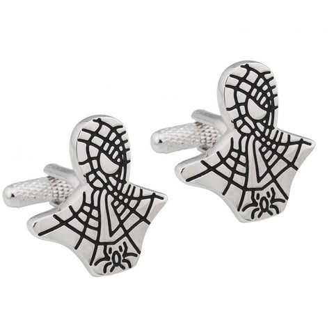 Silver Spiderman Cufflinks