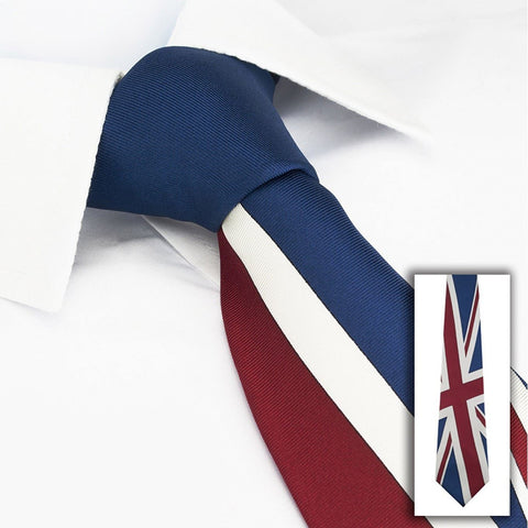 Union Jack Flag Silk Tie