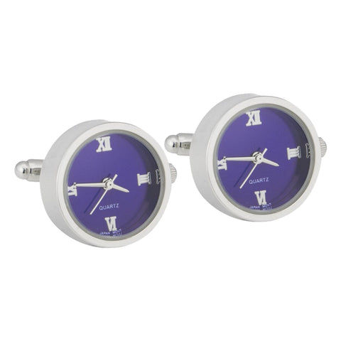 Quartz Working Watch Cufflinks