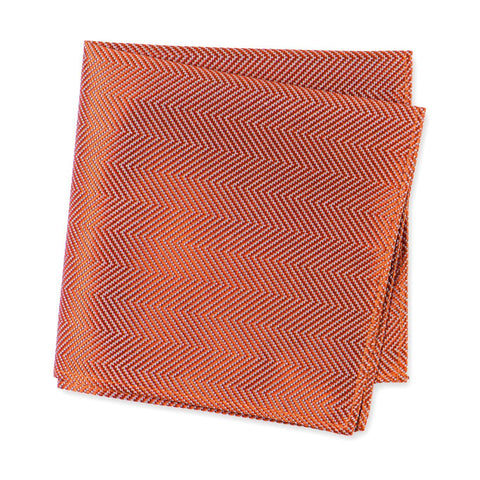 Burnt Orange Aztec Woven Silk Handkerchief