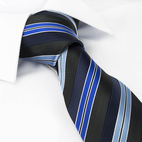 Blue Ottoman Striped Tie