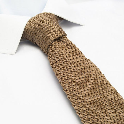 Stone Knitted Square Cut Tie