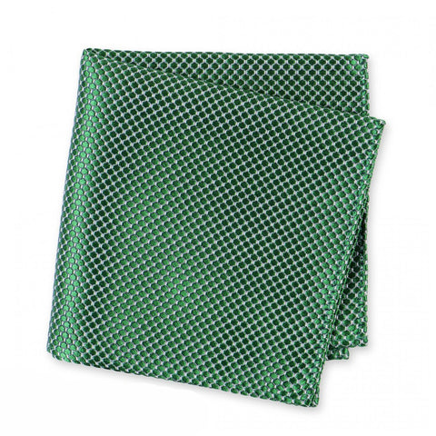 Emerald Green Silk Lattice Handkerchief