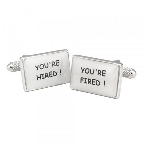 You're Hired You're Fired Cufflinks