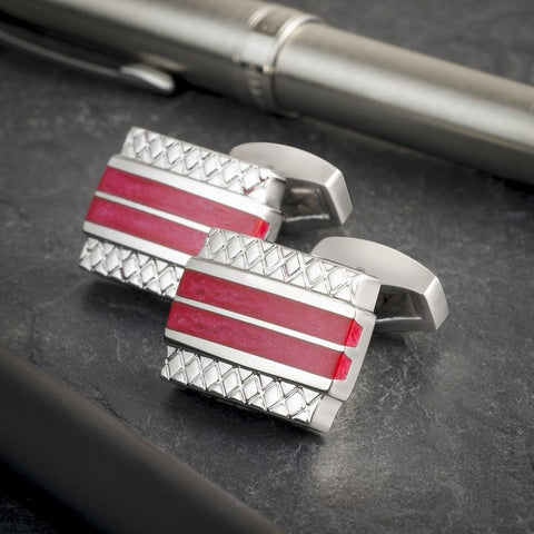 Executive Double Stripe Cufflinks