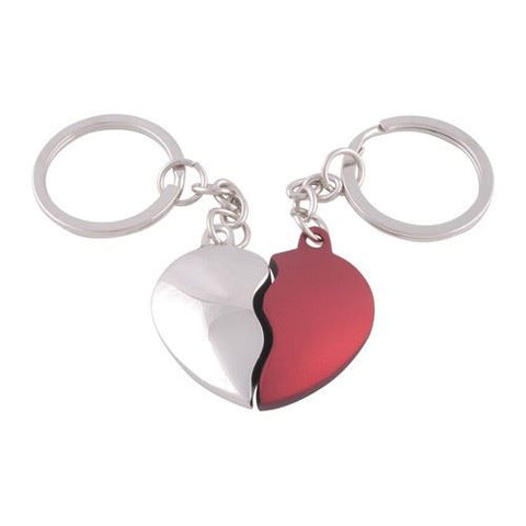 Two Parts to a Heart Keyrings