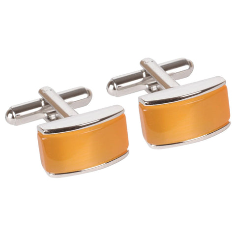 Orange Bridged Fashion Cufflinks
