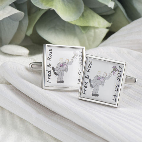 Groom & Groom Personalised Cufflinks