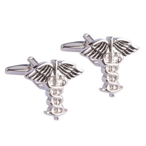Medical Caduceus Doctor's Symbol Cufflinks