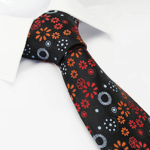 Autumn Luxury Floral Silk Tie