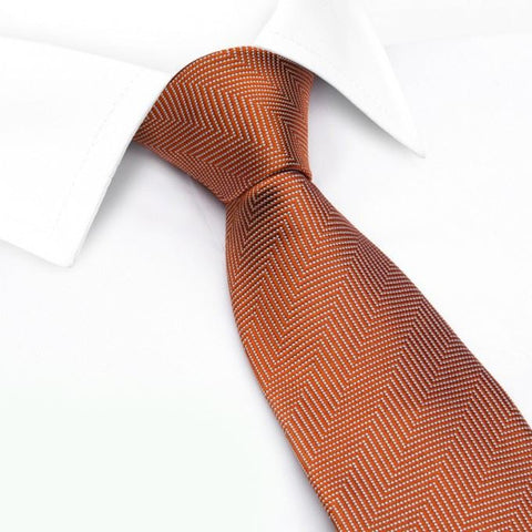 Burnt Orange Aztec Woven Silk Tie