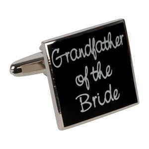 Black Grandfather of the Bride Cufflinks