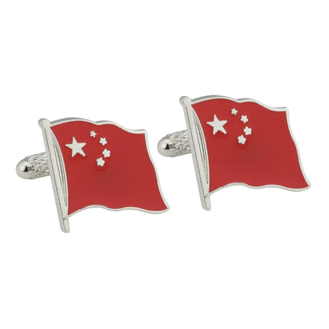 Chinese Flag Cufflinks