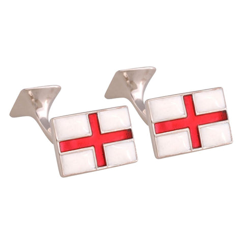 Sterling Silver St George Cufflinks