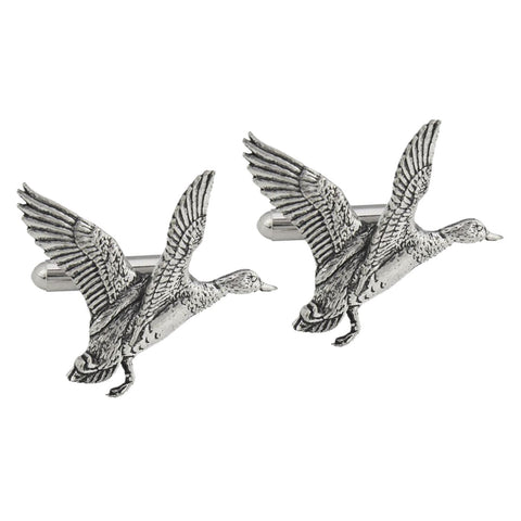 Pewter Mallard Duck Cufflinks