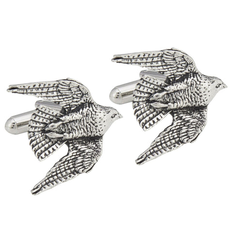 Pewter Swooping Falcon Cufflinks