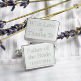 With Love and Thanks Wedding Cufflinks