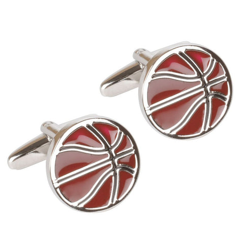 Flat Basketball Cufflinks