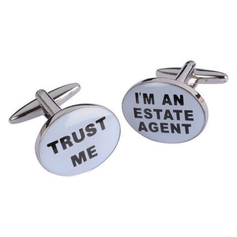 Trust Me I'm an Estate Agent Cufflinks