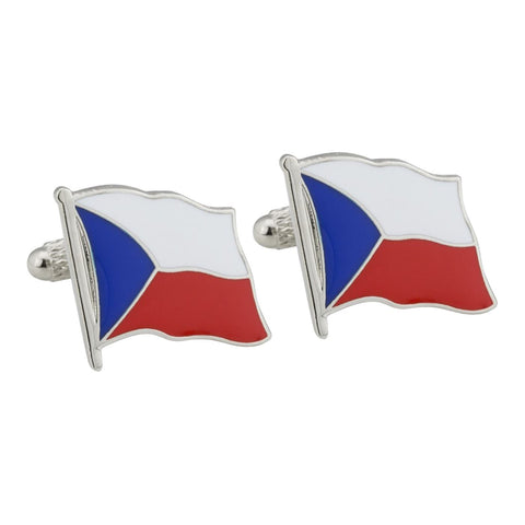 Czech Republic Flag Cufflinks