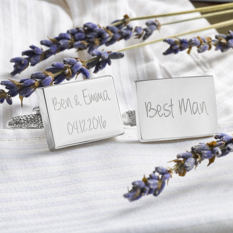 Engraved Wedding Cufflinks