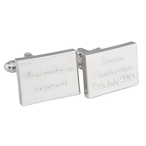 Engraved Graduation Cufflinks