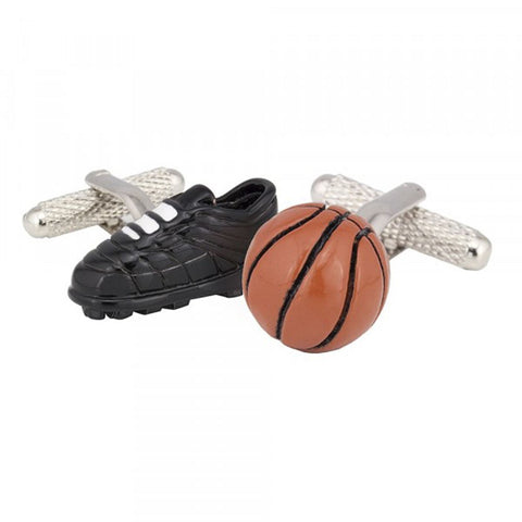 Basketball Boot & Ball Cufflinks