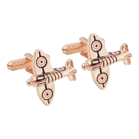 Spitfire Cufflinks - rose gold edition