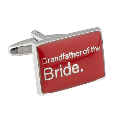 Poppy Red Grandfather of the Bride Cufflinks