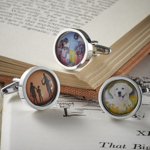 Personalised Circular Photo Cufflinks