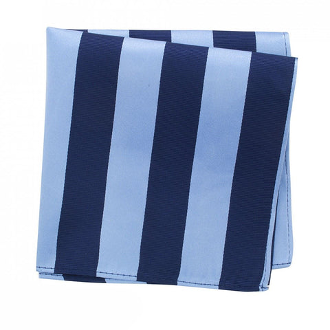 Navy & Blue Striped Silk Handkerchief