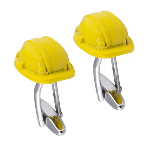Yellow Hard Hat Cufflinks