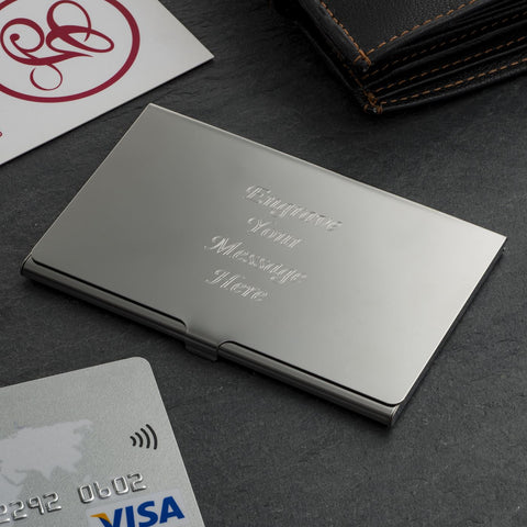 Classic City Business Card Holder (Engraved)