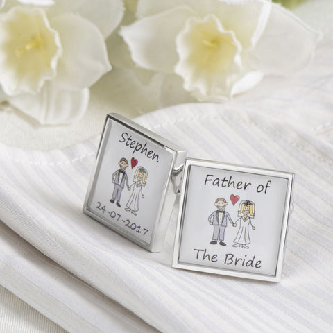 Personalised Wedding Role Cufflinks Style 2